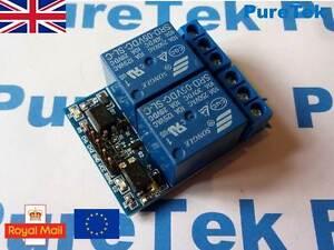 Detalles De 2 Canales 3 3v 5v 10a Módulo De Relés Para Arduino Rpi Esp8266 Optoacoplador Ver Título Original