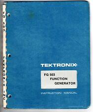 Original Tektronix Instruction Manual For The Fg503 Function Generator