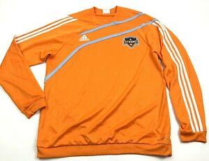 Adidas Houston Dynamo Soccer Jersey Size Extra Large Orange Long Sleeve Dry Fit