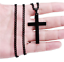 Mens-Women-Chain-Necklace-Black-Cross-Stainless-Steel-Pendant-Crucifix-Jesus thumbnail 5