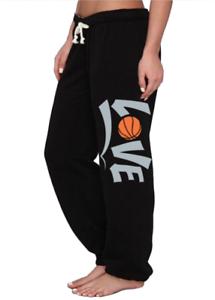 Sweatpants Love Basketball Design Sweats Clothing Gear Mens Size