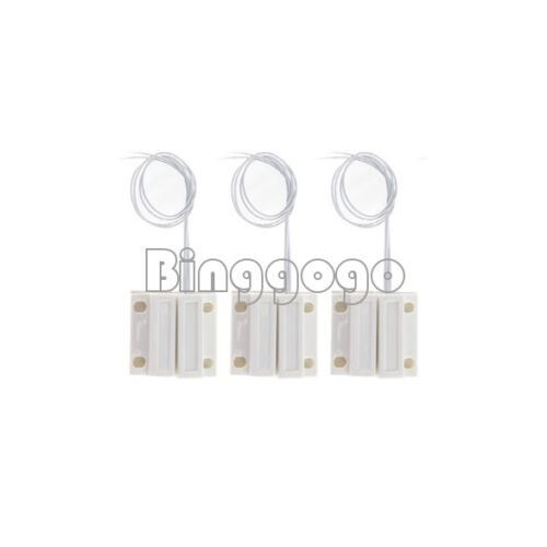 1//5Pairs MC-38 Wired Door Window Sensor Magnetic Switch Home Alarm System