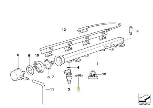 BMW BOSCH Lucas Petrol Fuel Injector Clip Clamp 1274729 13531274729
