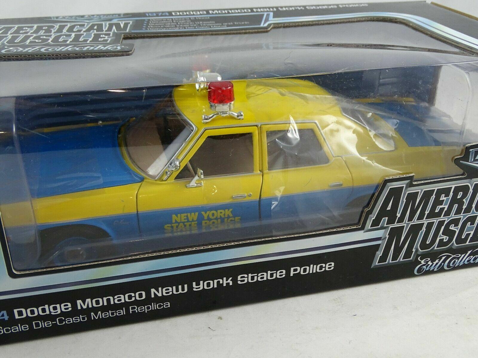 1 18  ERTL 1974 Dodge Monaco nouveau York State Police Elite Edition nouveau RARE  remise