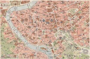 Cartina Geografica Roma E Dintorni.D4182 Pianta Cittadina Di Roma Carta Geografica D Epoca 1939 Vintage Map Ebay