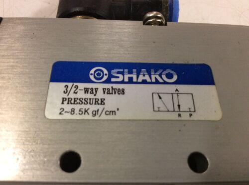 Shako Pneumatic Valve 0550 00.1-00 24 // 48V Used 3//2 Way Valve w// 1 Solenoid