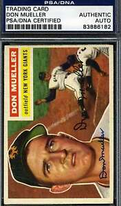 Don-Mueller-1956-Topps-Psa-dna-Signed-Original-Authentic-Autograph