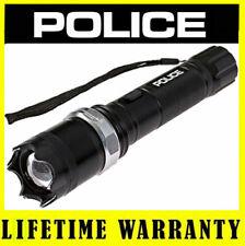 POLICE Stun Gun A2 180 BV Metal Rechargeable Zoom LED Flashlight