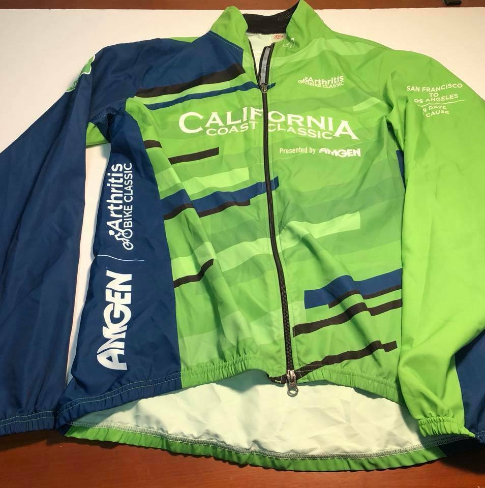 Cycling CALIFORNIA COAST CLASSIC S.F to L.A. 525 Miles (XL) Bicycle Windbreaker