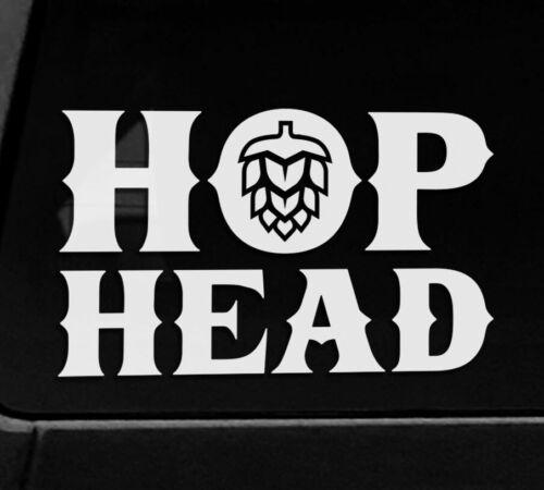 Hop Head Craft Beer Sticker Ale IPA Brewing Brewery Brewer Decals Local Beer USA