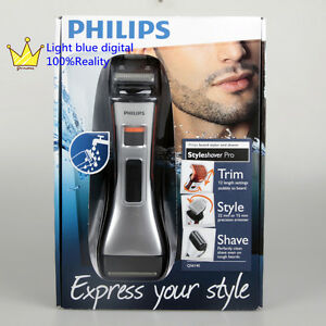 8100c440aa6 Image is loading NEW-Philips-Norelco-QS6140-32-StyleShaver-Silver-All-