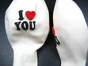 Uk stock white i love u 12 latex balloons wedding propose prop image is loading uk stock white i love u 12 034 junglespirit Gallery