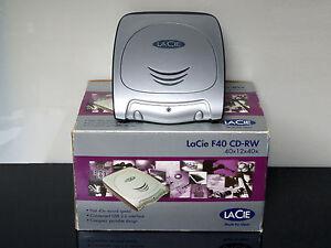 LaCie-F40-CD-RW-40x12x40x-masterizzatore-portatile-esterno-CONFEZIONE-ORIGINALE