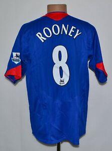 BNWT-Manchester-United-2005-2006-FOOTBALL-SHIRT-JERSEY-NIKE-8-Rooney-Taglia-L