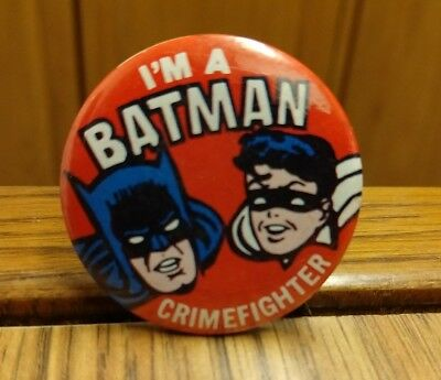 Colorful Crimefighter Buttons 12 w// Bag COOL SEE Inc Batman /& Robin 1966 N.P.P