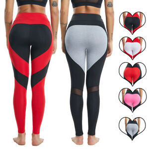 a7d986991a Women's Sports Yoga Pants Heart Push Up Fitness Leggings Workout Gym ...