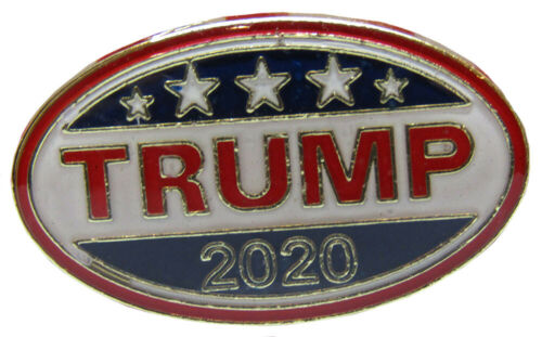 Wholesale Pack of 24 Trump 2020 Oval Campaign Election Bike Hat Cap lapel Pin