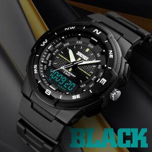 SKMEI-Men-039-s-Sports-Casual-Waterproof-EL-light-Quartz-Analog-Digital-Wrist-Watch