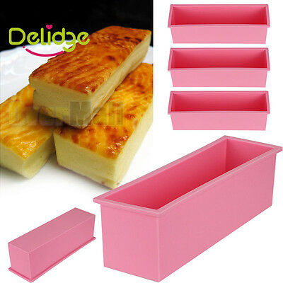 Rectangle Toast Bread Baking Tools Silicone Soap Mold Bakeware Loaf  Cake Molds