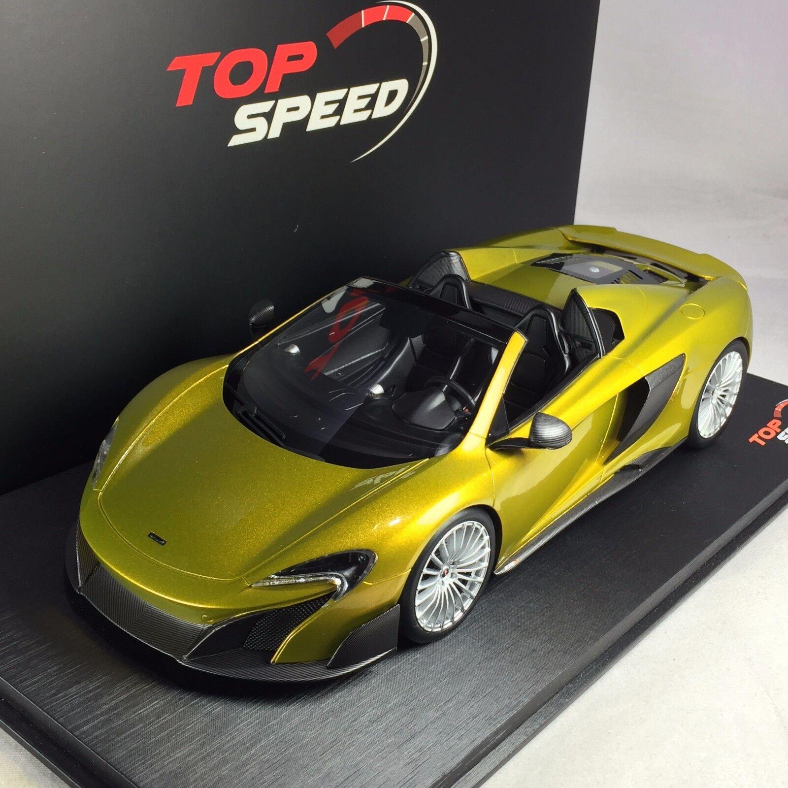1 18 TSM Top Speed McLAREN 675LT Spider Solis Ltd 999 pcs  TS0071