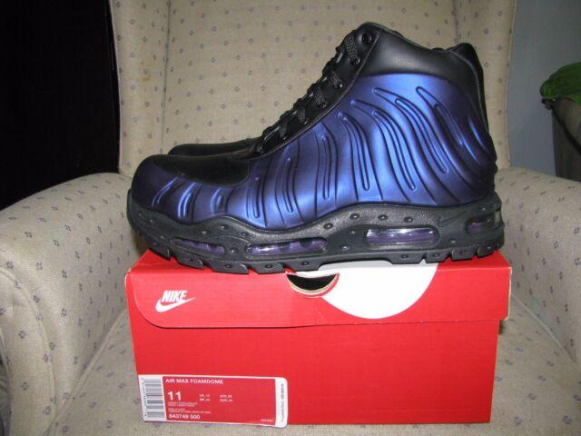 best sneakers 96a4f ae1ed NIKE AIR MAX FOAMDOME FOAMPOSITE BOOT Eggplant Varsity Purple Snow Rain Hiki