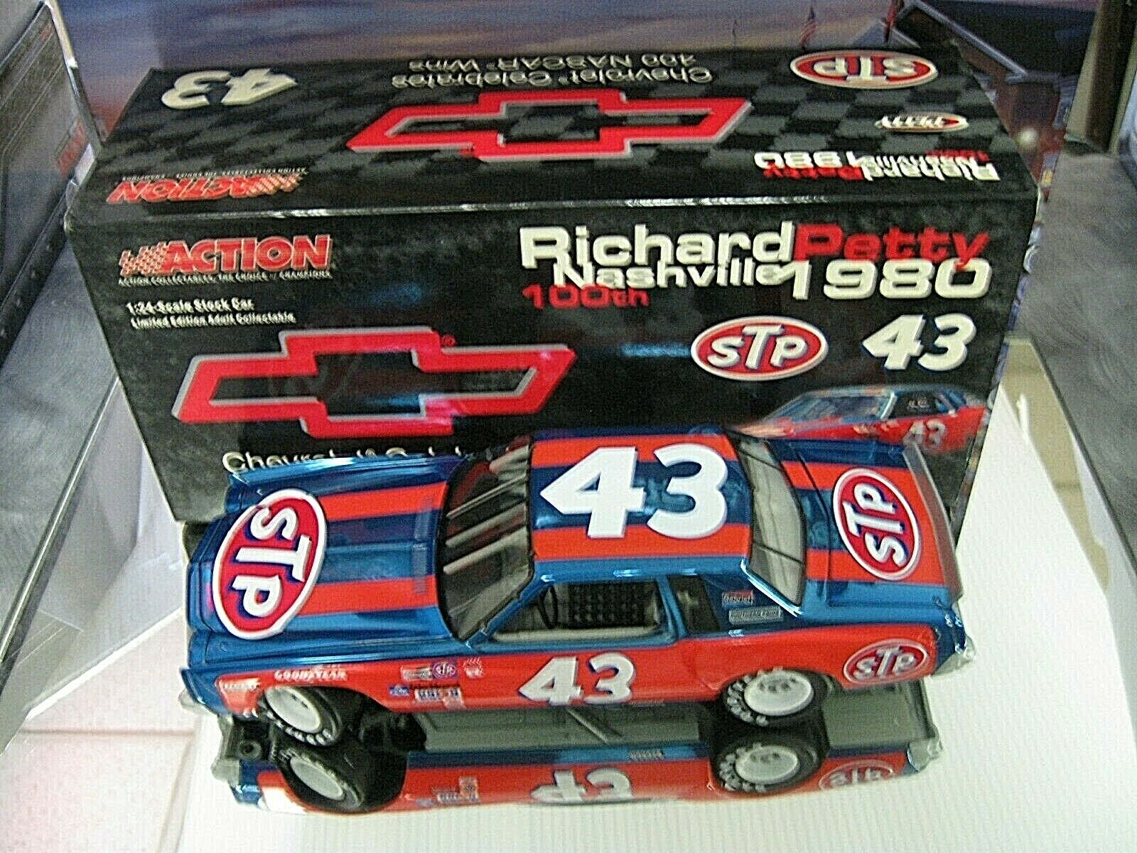 RARE  2004 RELEASE 1980 RICHARD PETTY CHEVROLET 400 WINS NASHVILLE 100TH MONTE