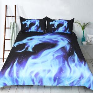 3pc Set Cartoon Dragon Duvet Cover Bedding Set Flame Quilt Cover ... : dragon quilt cover - Adamdwight.com