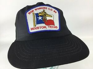 Details about Vintage Iron Workers Union Hat Local 84 Houston Texas  snapback patch
