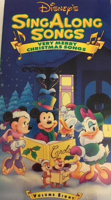 Disney Sing Along Songs Very Merry Christmas Songs 2002.Disney Sing Along Very Merry Christmas Songs Vhs Video Tape Movie Volume 8