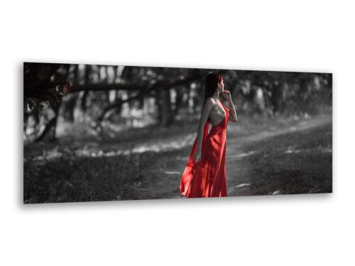 Glasbilder Wandbilder 125 x 50cm Lady in Red Erotik AG312502886