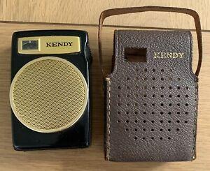 Vintage / Retro Kendy TR-612 Pocket Transistor Radio - Black