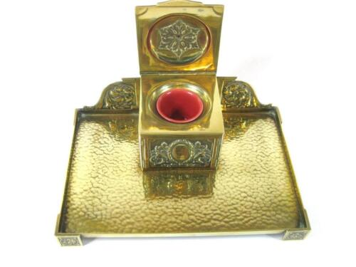 Rare RUBY RED ceramic Inkwell insert Porcelain ink pot inkwell liner 11 sizes,