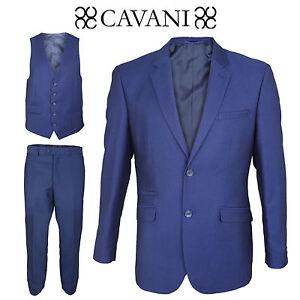 3 Or Lot Suit Cavani Separately Sold Wedding Formal Mens Navy Piece Designer Atw1vqF