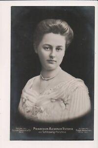 Vintage Postcard Alexandra Victoria Princess August Wilhelm of Prussia