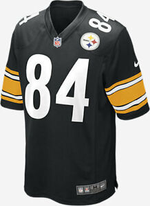 Nike-NFL-Pittsburgh-Steelers-Jersey-Antonio-Brown-Men-039-s-Medium-American-Football
