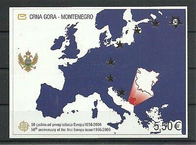 Montenegro./ 50 Jahre Europamarken Minr Block 3 ** Hell Und Durchscheinend Im Aussehen Jugoslawien
