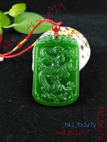 2019 fashion vert naturel jade dragon collier pendentif délicat Lucky amulet
