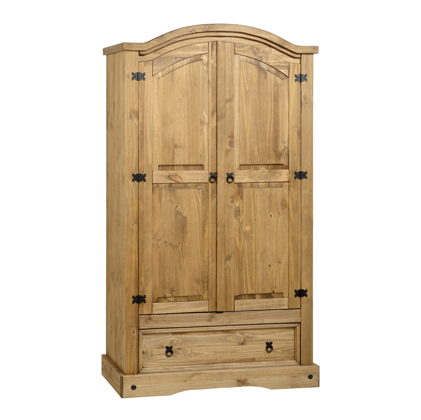 corona 2 t r 1 schublade kleiderschrank beunruhigt gewachst kiefer ebay. Black Bedroom Furniture Sets. Home Design Ideas