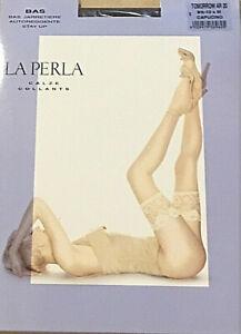 LA-PERLA-TOMORROW-AR-20-halterlose-Strumpfe-S-M-L-STAY-UP-champagne-capucino