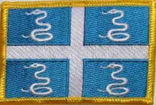 Ricamate Martinica bandiera bandiera aufbügler Patch 8 x 5 cm