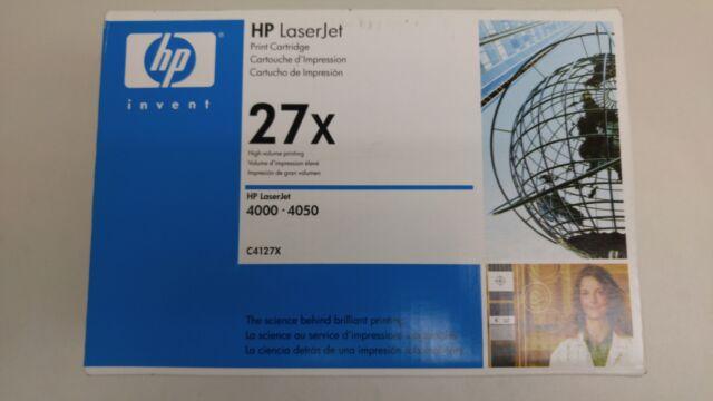 New HP C4127X 27x Black Toner Cartridge For LaserJet 4000/4050 Blue Box