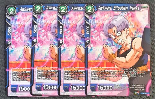 4x Awkward Situation Trunks TB2-026 C Dragon Ball Super TCG NEAR MINT