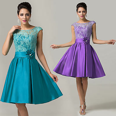 Wedding Bridesmaid Short Prom Dress Evening Ball Gown Party Semi Formal Dresses