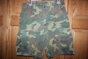 US-Military-Vietnam-ERDL-Camouflage-Camo-Short-Pants-Shorts-ARMY-USMC-Small-TG01