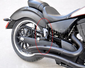 Black-Rear-Passenger-Footpegs-Footrest-For-Victory-Vegas-Kingpin-2004-2012