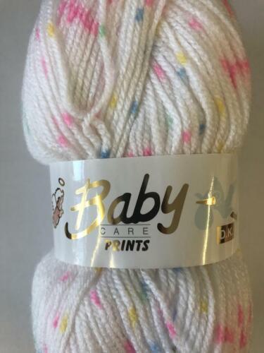 634 Mezcla Dolly Woolcraft impresiones de cuidado del bebé hilado tejido de lana//dk 100g