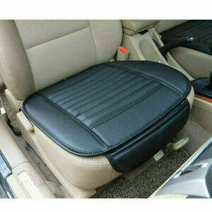 Black-Universal-PU-Leather-Car-Front-Seat-Cover-Breathable-Auto-Chair-Cushion