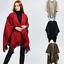 UK-Womens-Ladies-Side-Split-Tassel-Winter-Shawl-Cape-Poncho-Scarf-Wrap thumbnail 1