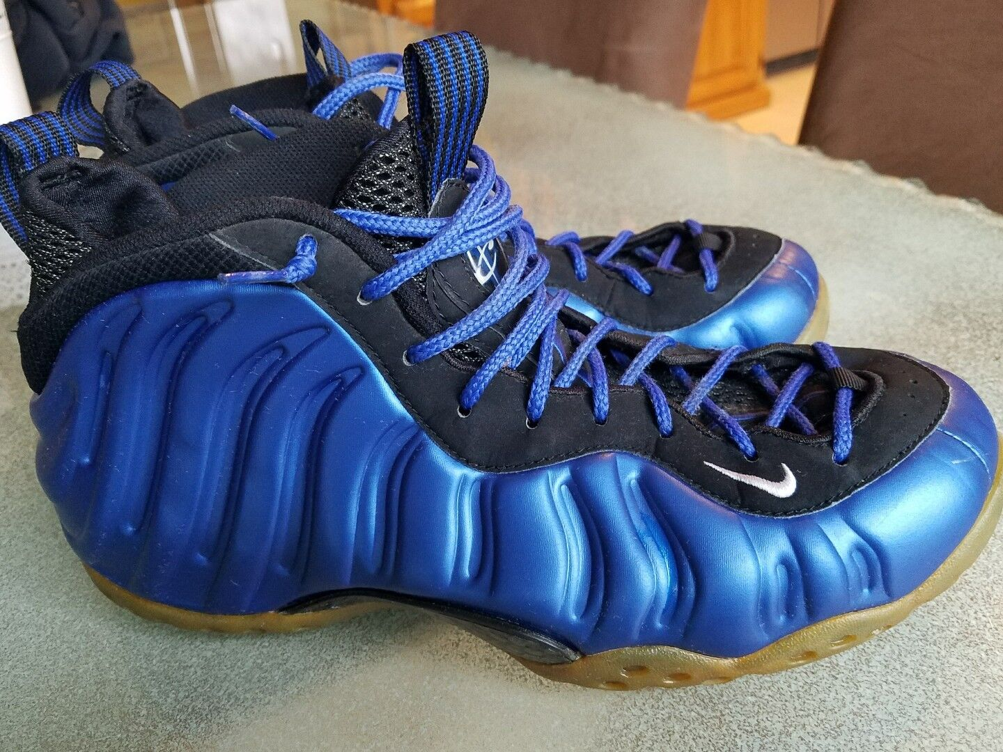 Vintage 1997 Nike Air Foamposite One 1 Mens 8.5 Royal bluee Galaxy 830017 511 00