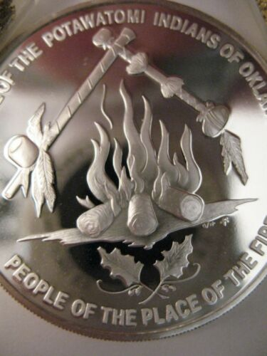 7//8-OZ GOLD POTAWATOMI AMERICAN NATIVE INDIAN  TRIBAL NATIONS COIN SILVER.999